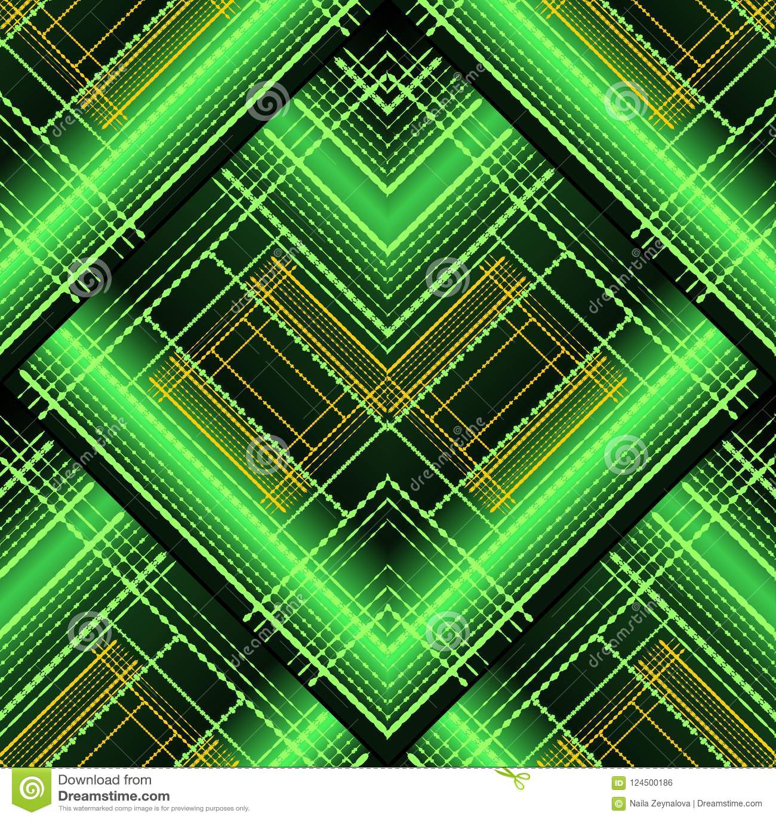 Modelo inconsútil rayado geométrico abstracto del vector 3d Sh brillante