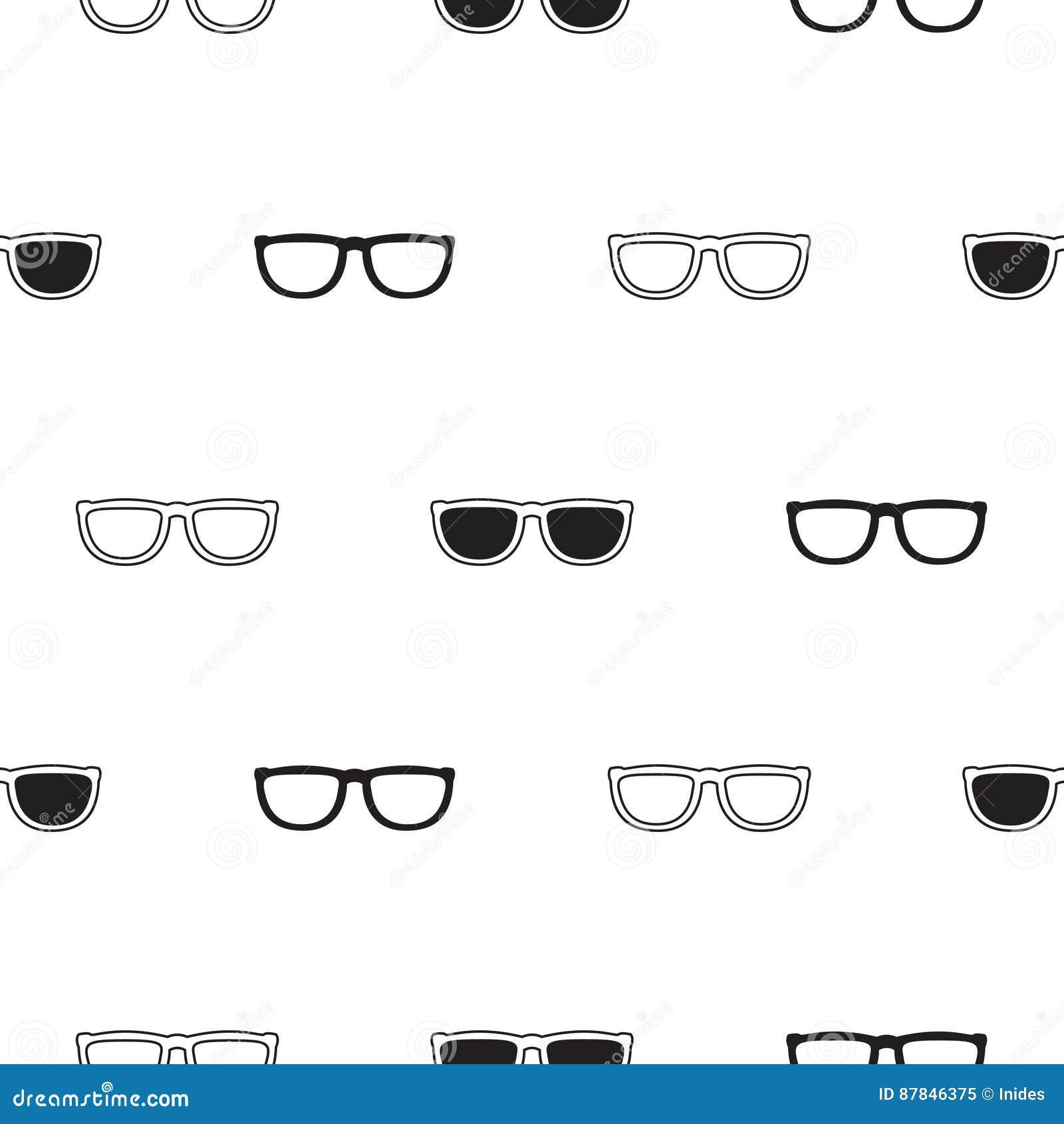 9ba818d089 Modelo Inconsútil Retro De Las Gafas De Sol En Blanco Y Negro ...