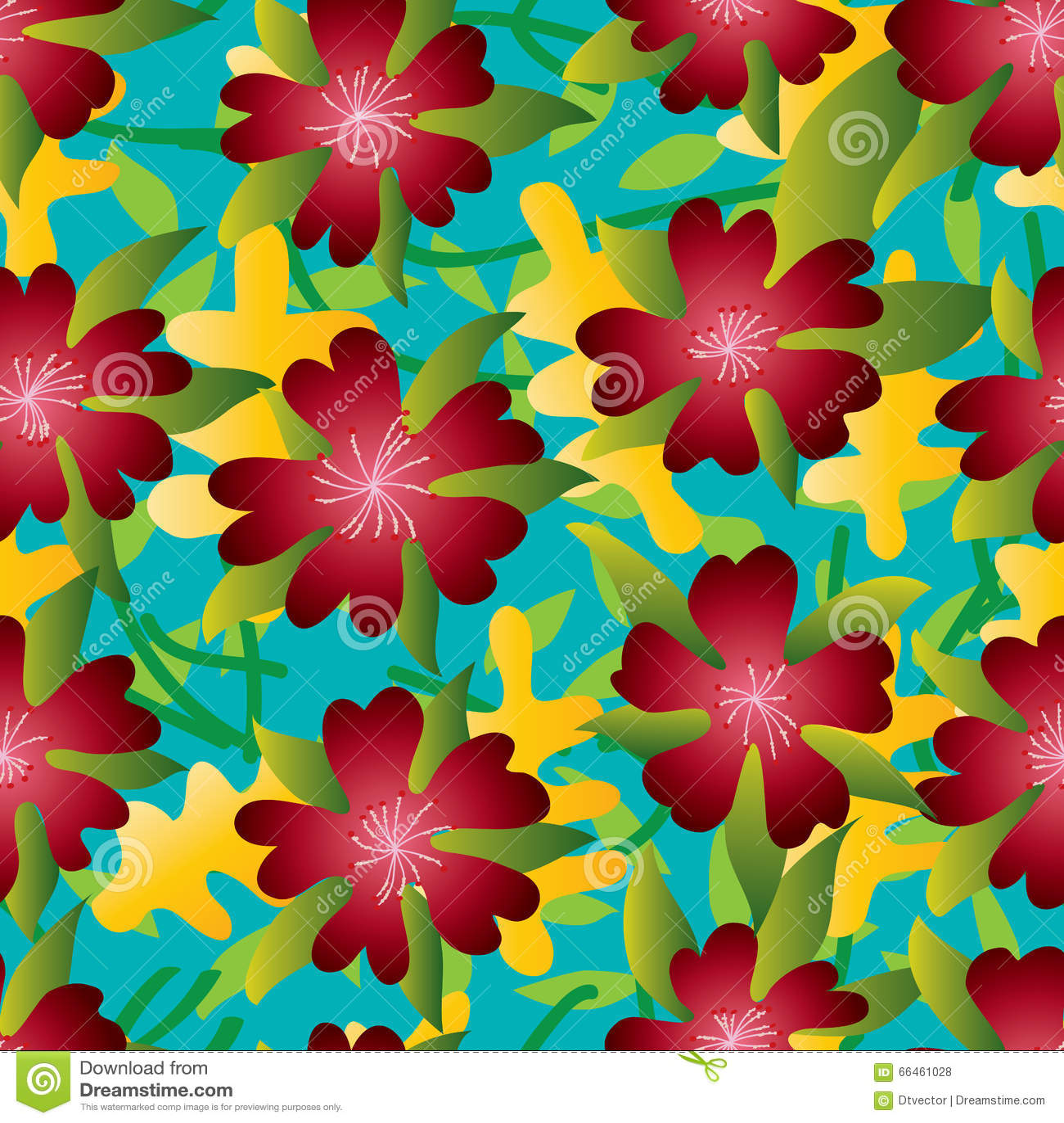 Modelo inconsútil rojo del verano del pétalo de la flor cinco