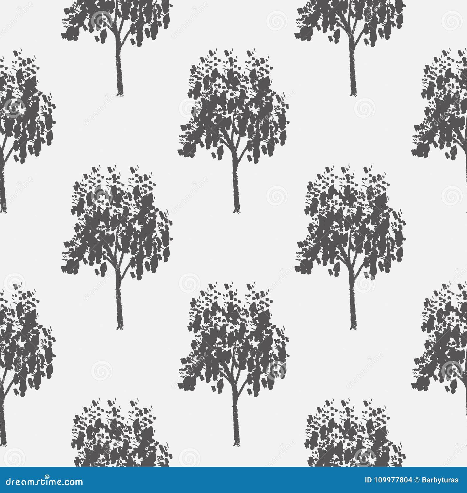 Modelo Inconsútil Vector Que Repite El Ejemplo árboles Sin Fin