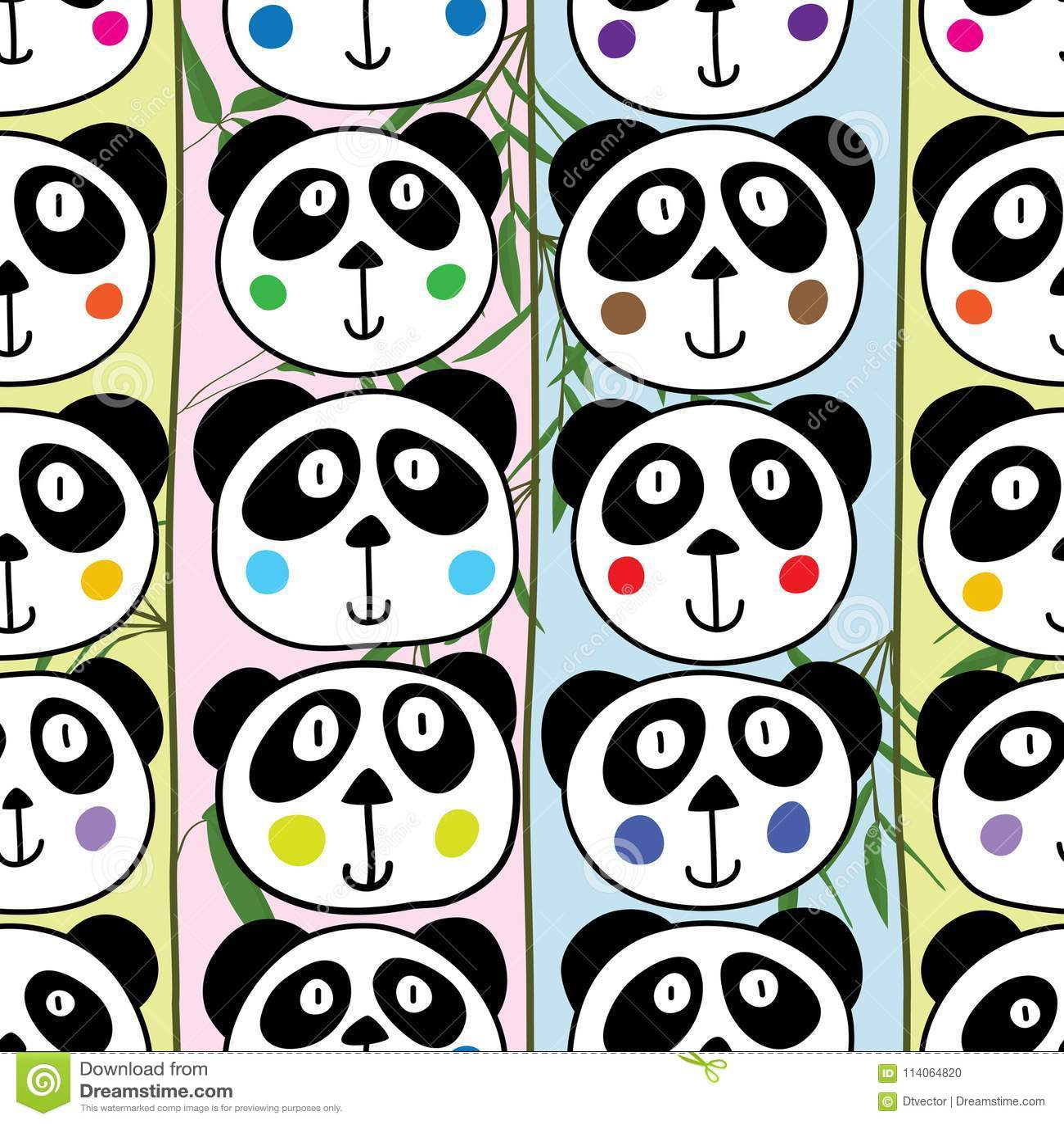 Modelo inconsútil vertical principal de la panda