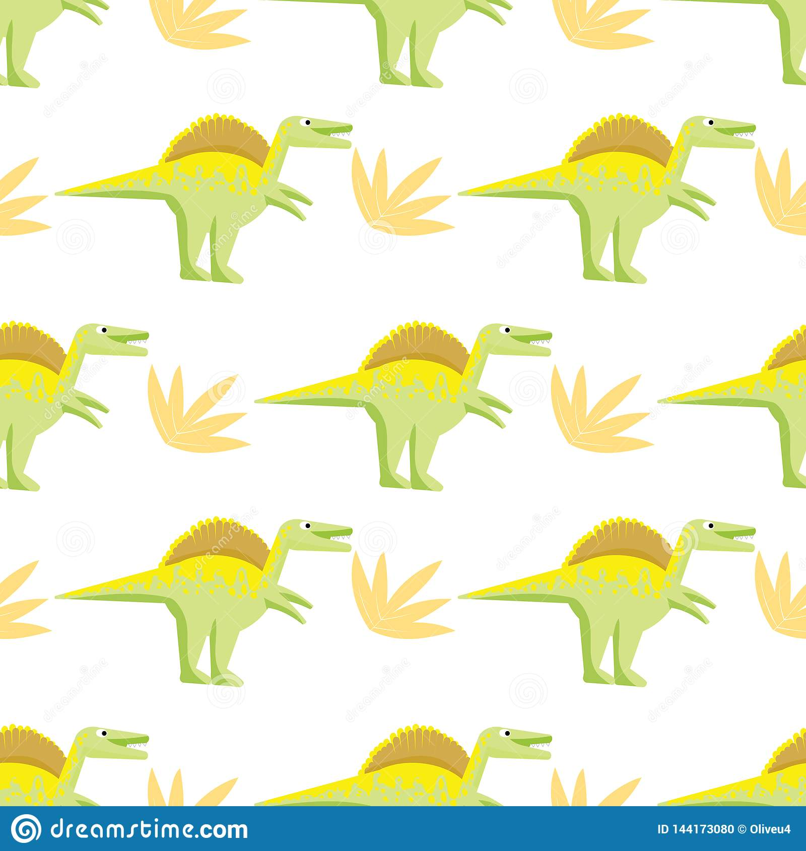 Modelo incons?til con los dinosaurios brillantes