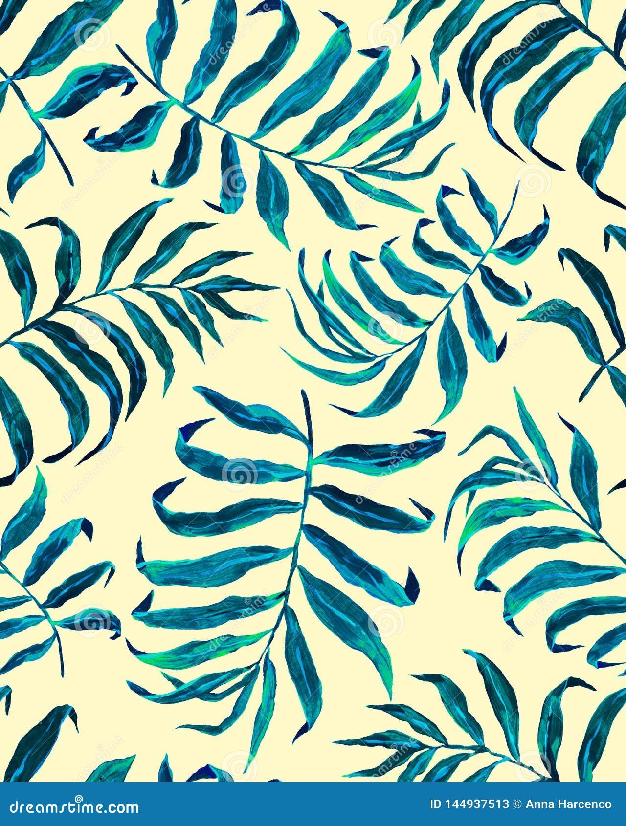 Modelo incons?til de las hojas de palma tropicales