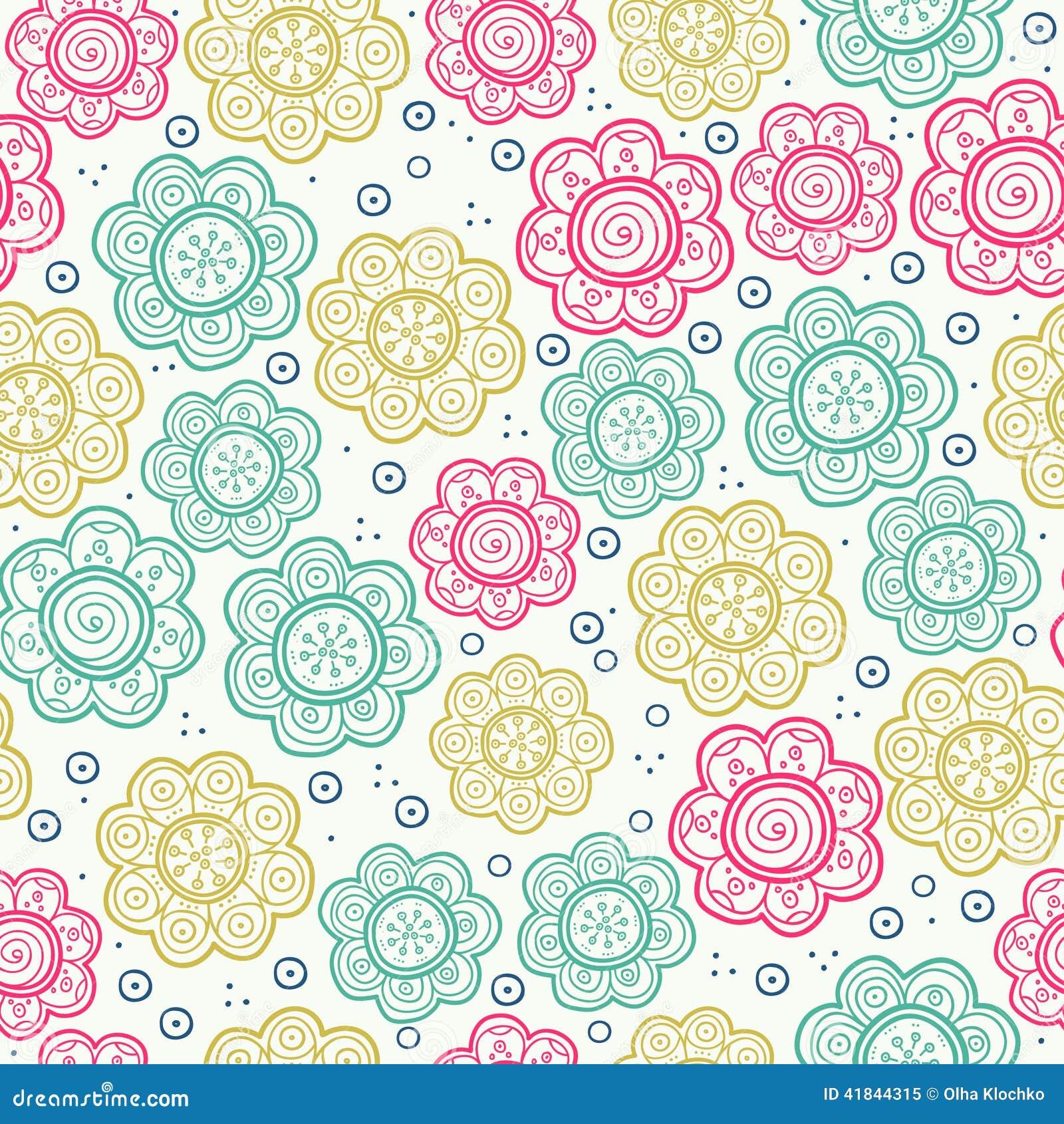 Modelo incons til floral ilustraci n del vector fondo la - Papeles decorativos para imprimir ...