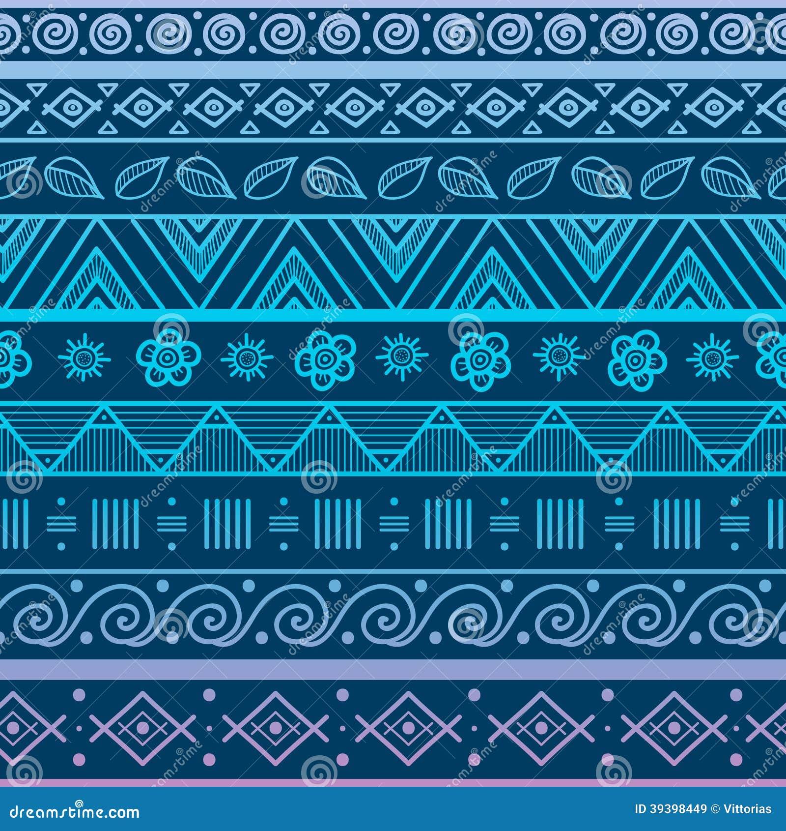 Modelo incons til rayado tribal ilustraci n del vector - Papel de pared blanco y negro ...