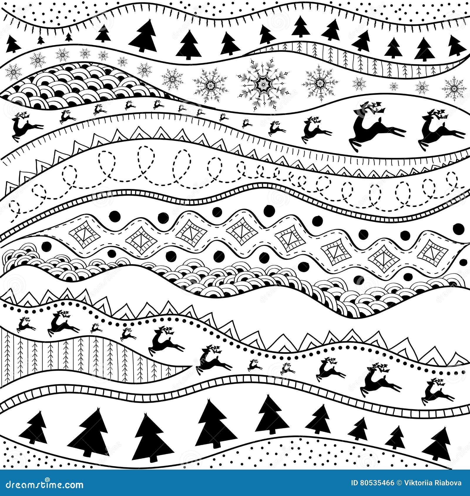 Modelo A Mano Del Ethno De La Navidad Fondo Tribal Diseño De La