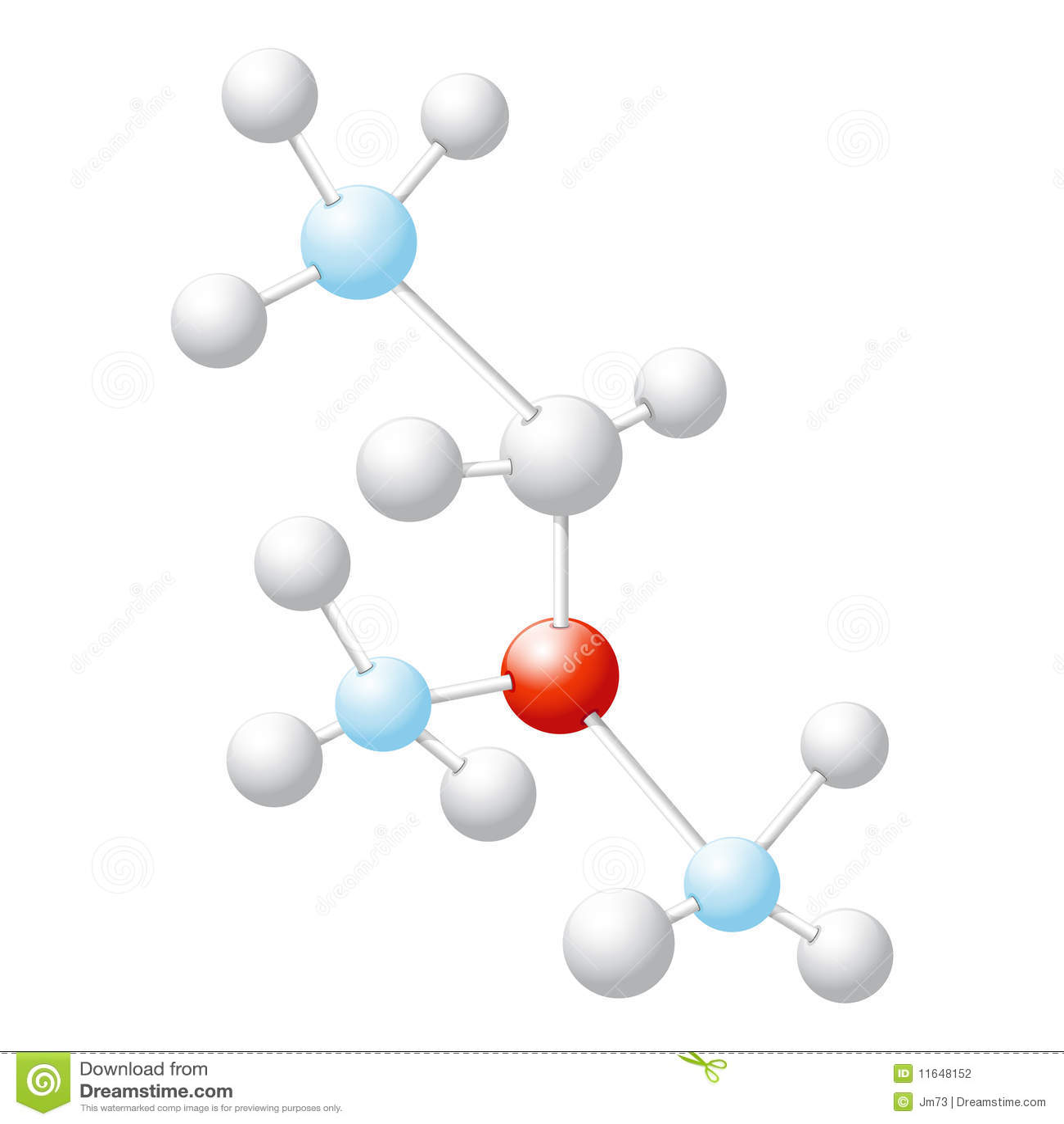 Modelo molecular abstracto 3D