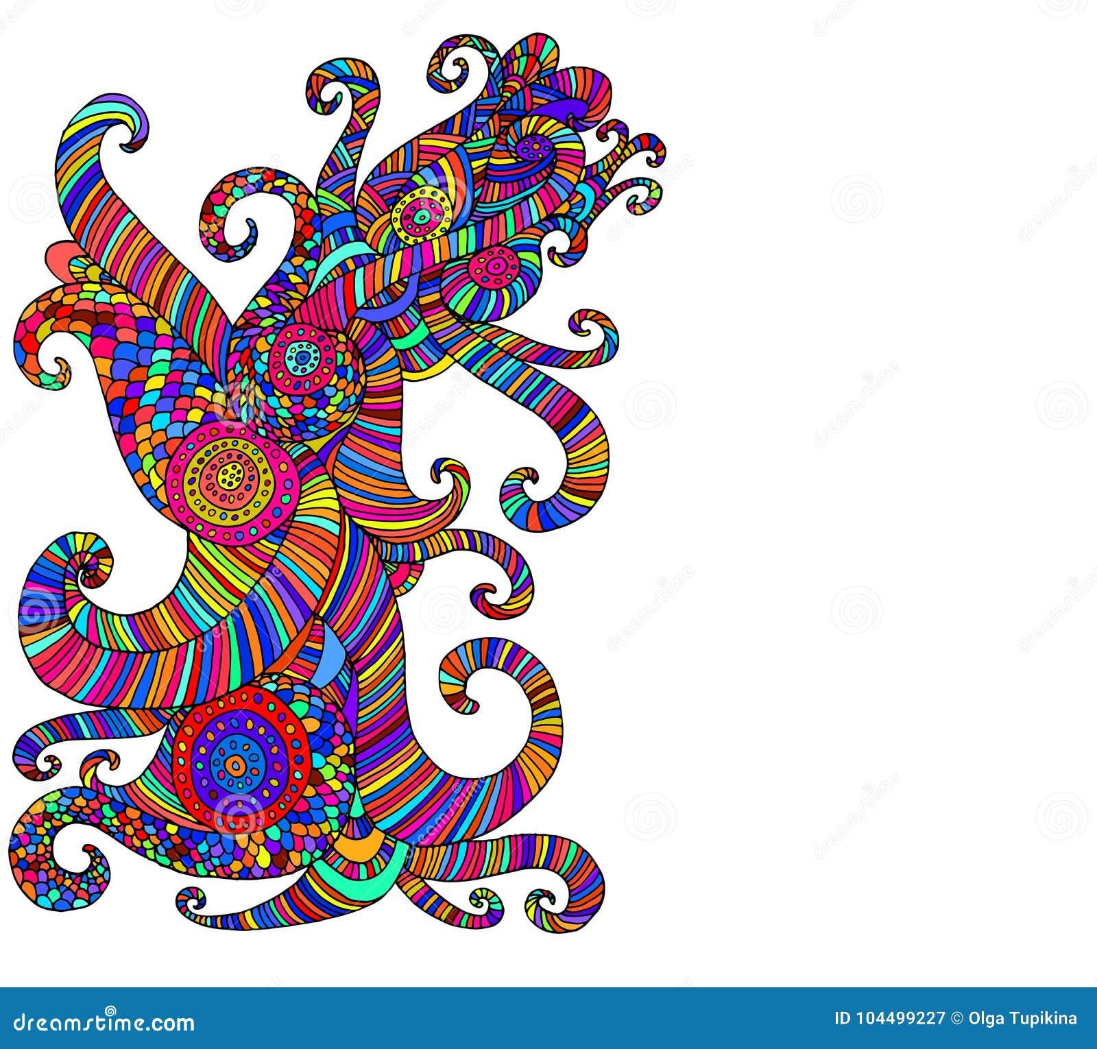 Modelo multicolor étnico brillante, backgrou abstracto decorativo