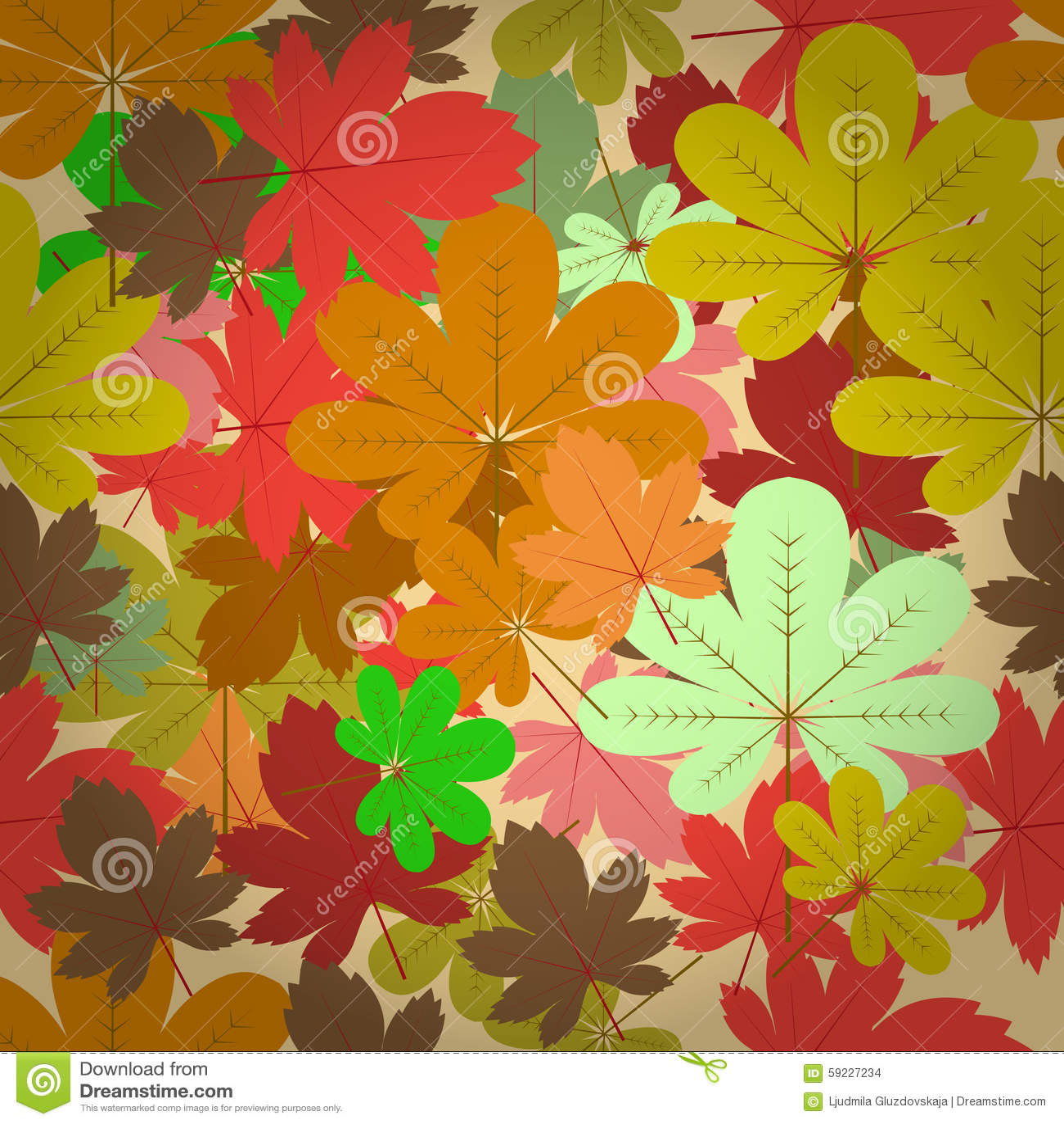 Download Modelo Natural Inconsútil Del Otoño Ilustración del Vector - Ilustración de rojo, postal: 59227234