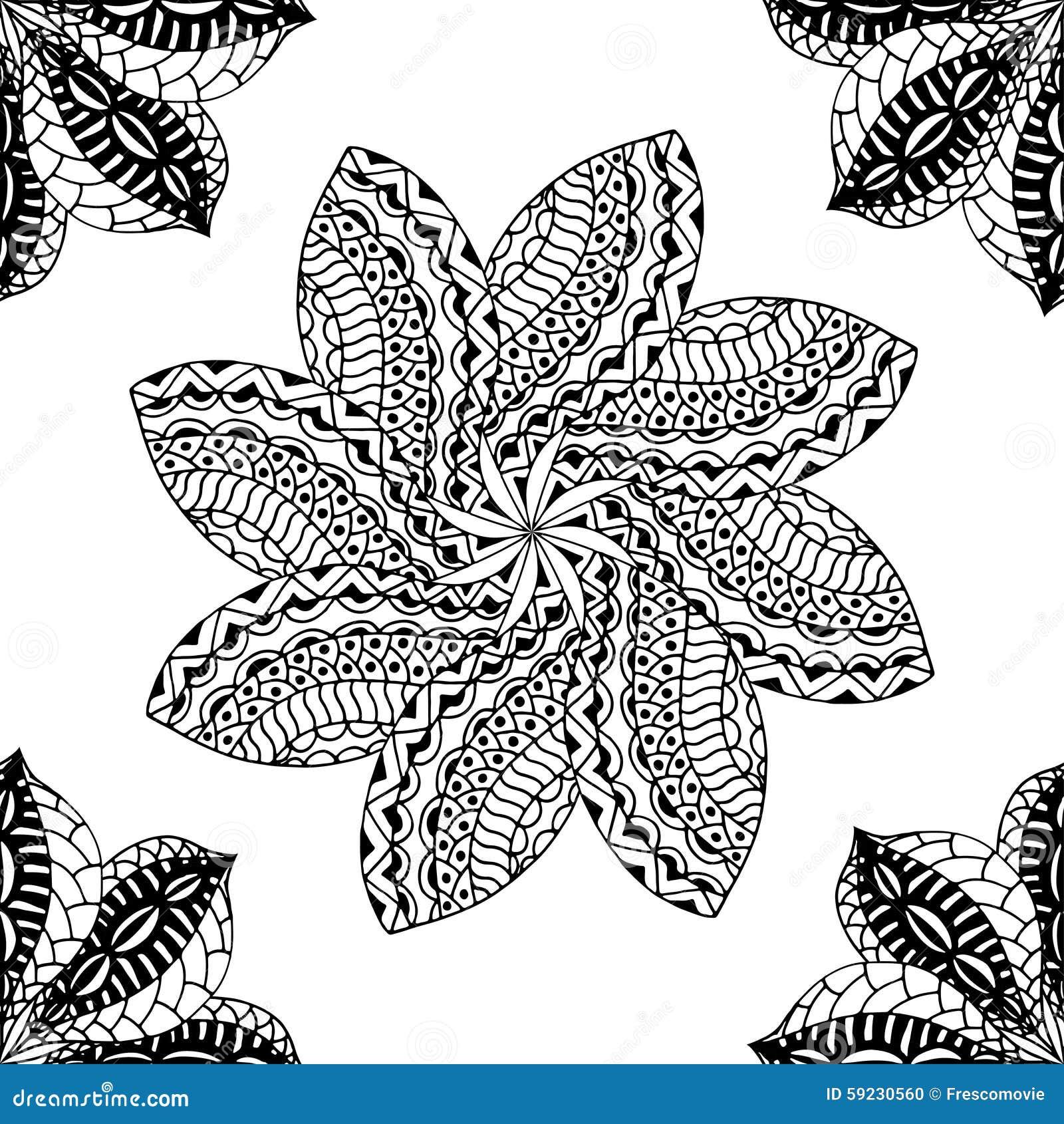 Download Modelo negro inconsútil ilustración del vector. Ilustración de ornamental - 59230560