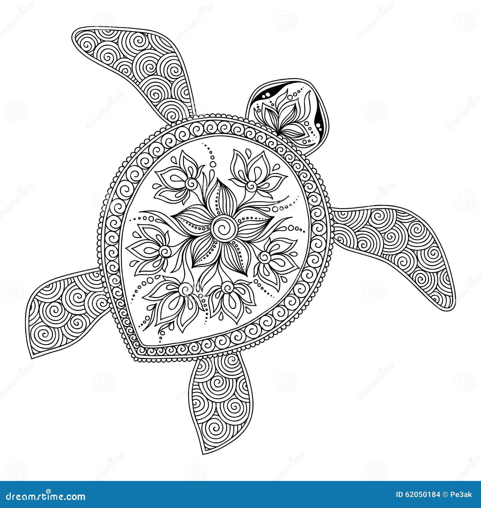 Vistoso Lindas Tortugas Para Colorear Para Niños Ilustración ...
