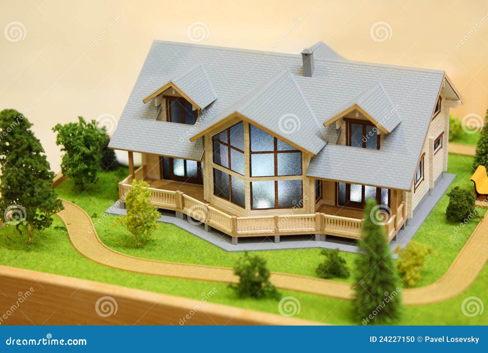 Modelo pequeno da casa de campo foto de stock imagem for Modelo de casa de 4x6