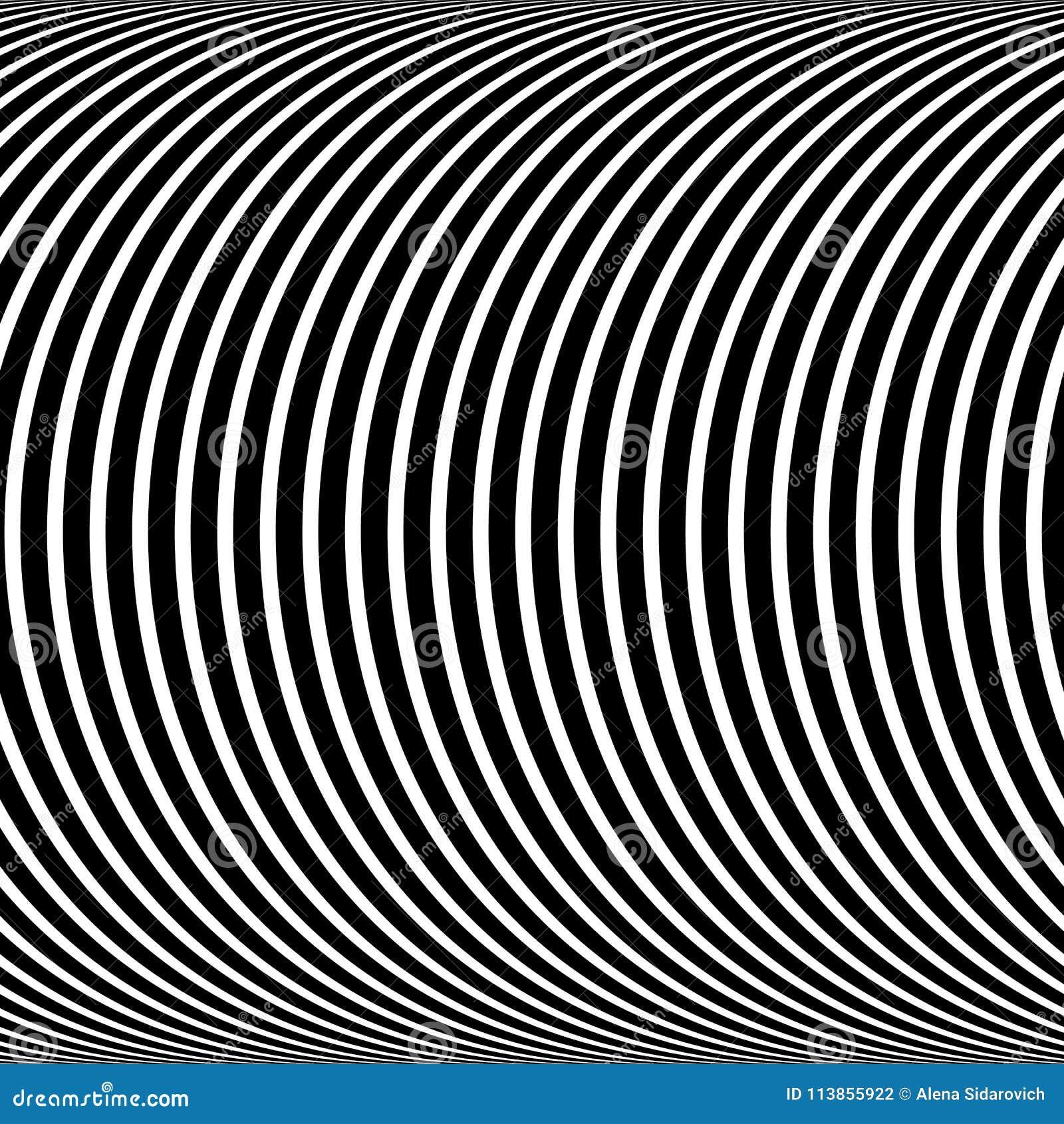 Modelo psicodélico, ilusión blanco y negro óptica