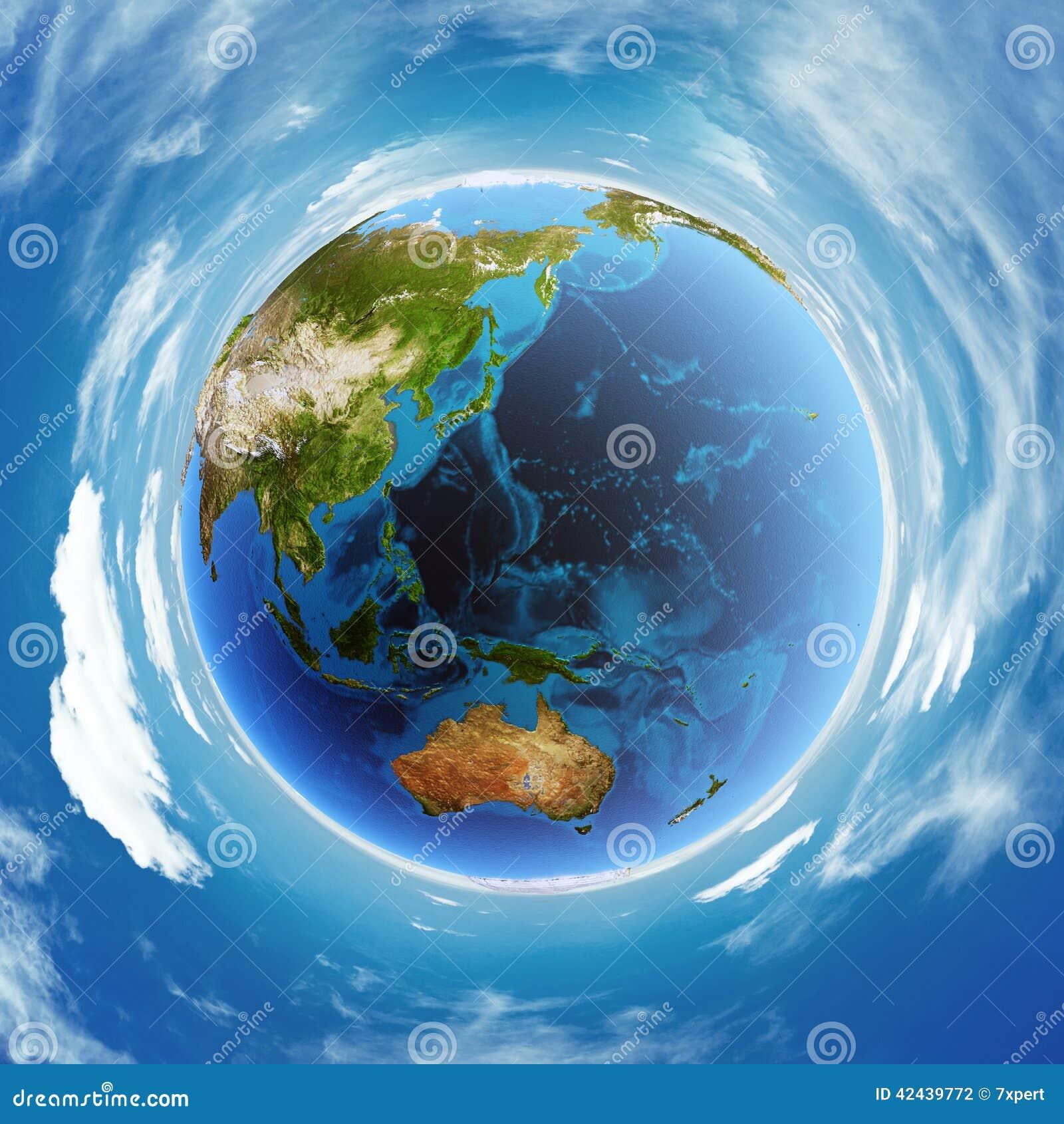 Modelo real del alivio de Oceanía