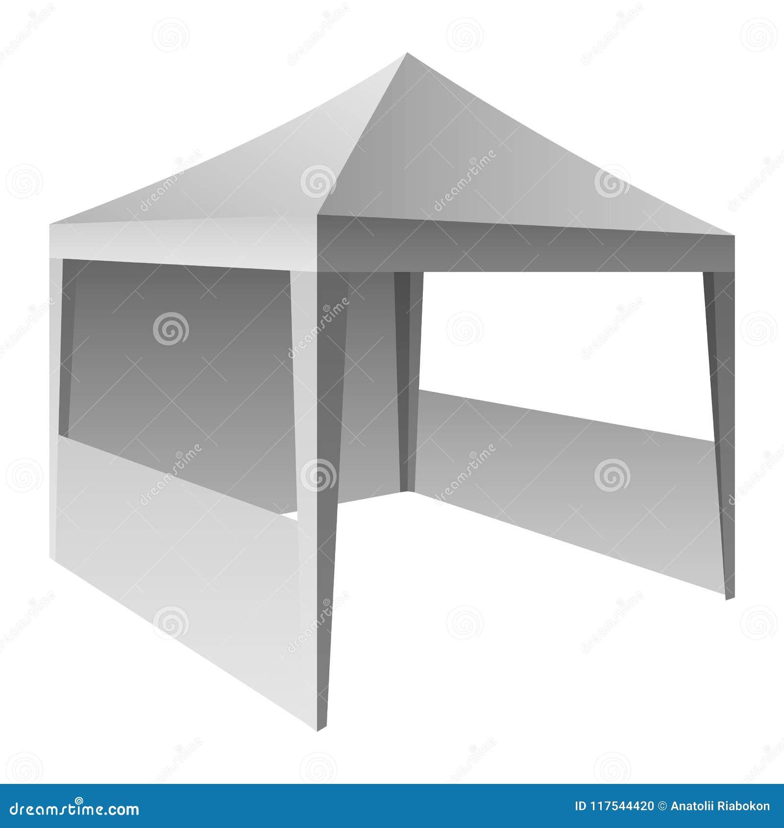 Modelo relativo à promoção da barraca, estilo realístico