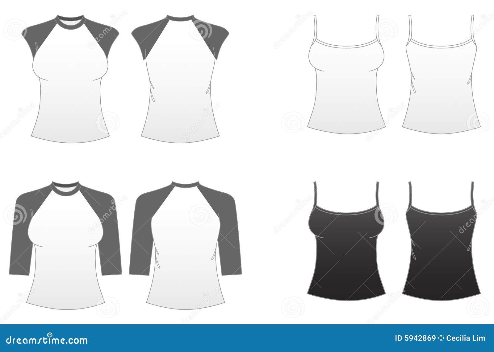 Modelo-Series ajustadas 3 de la camiseta de las mujeres