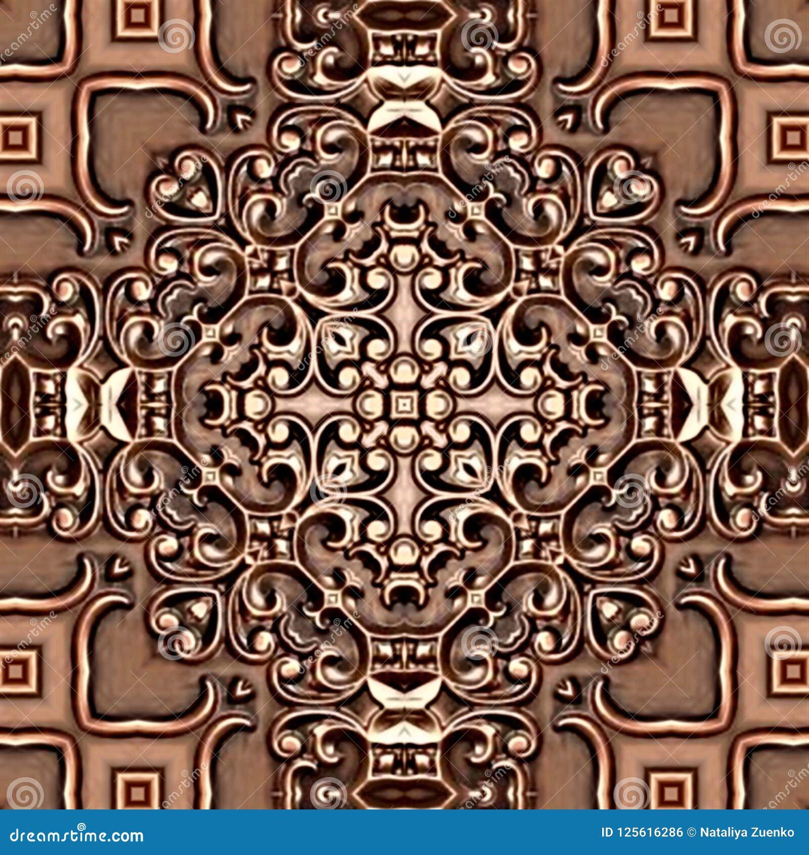 Modelo Simétrico Coloreado Fondo Abstracto Inconsútil Del Mosaico ...
