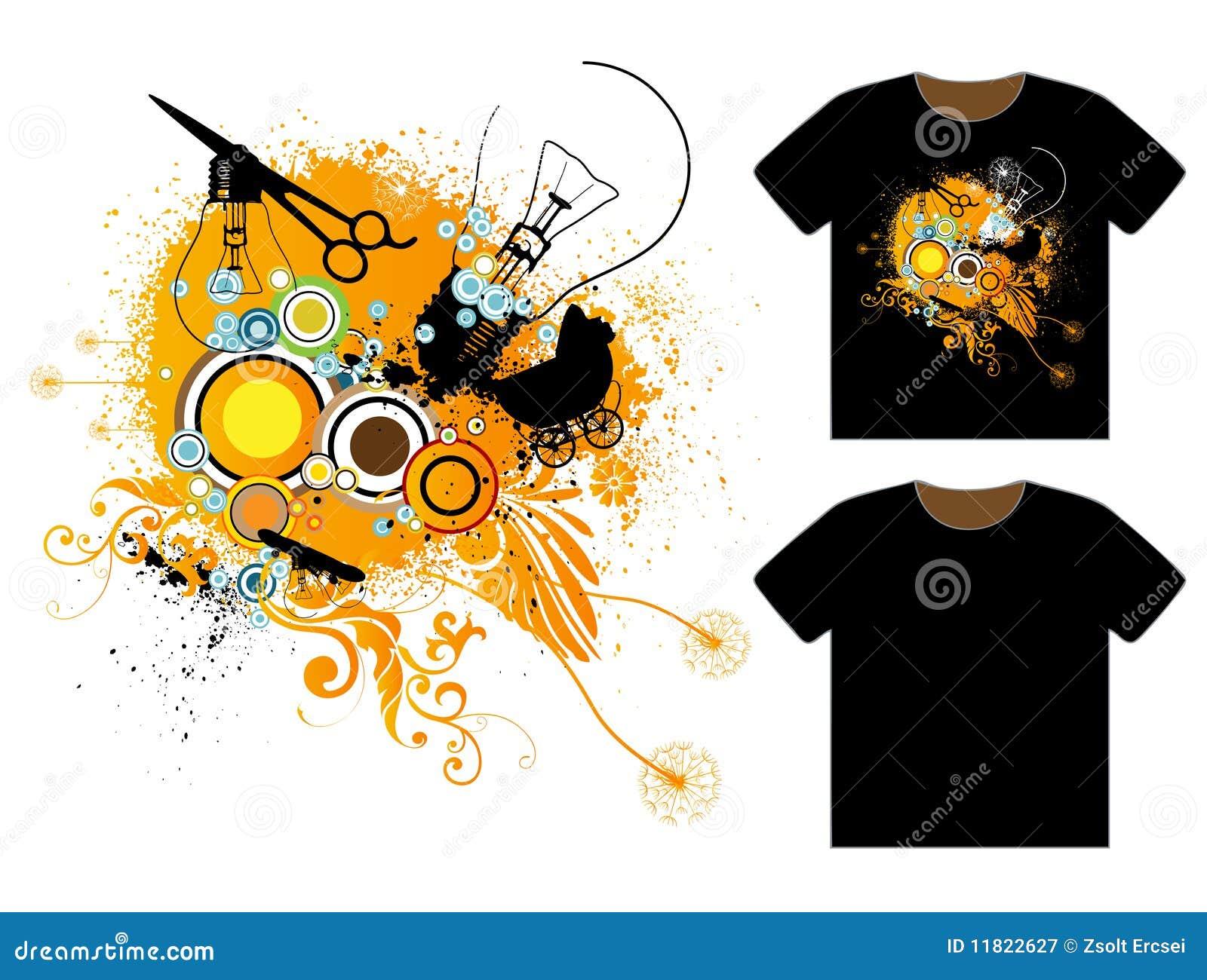 Modelo sucio del diseño de la camiseta