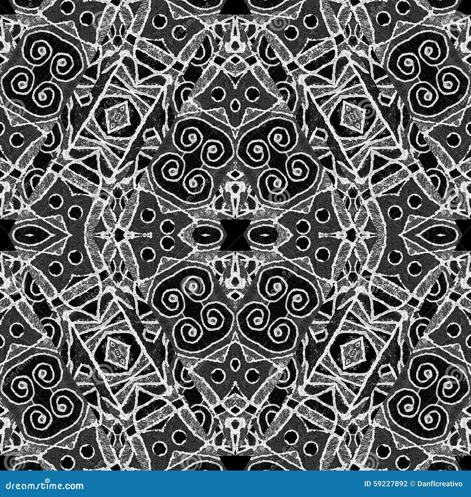 Download Modelo Tribal Geométrico Blanco Y Negro Stock de ilustración - Ilustración de intrincado, digital: 59227892