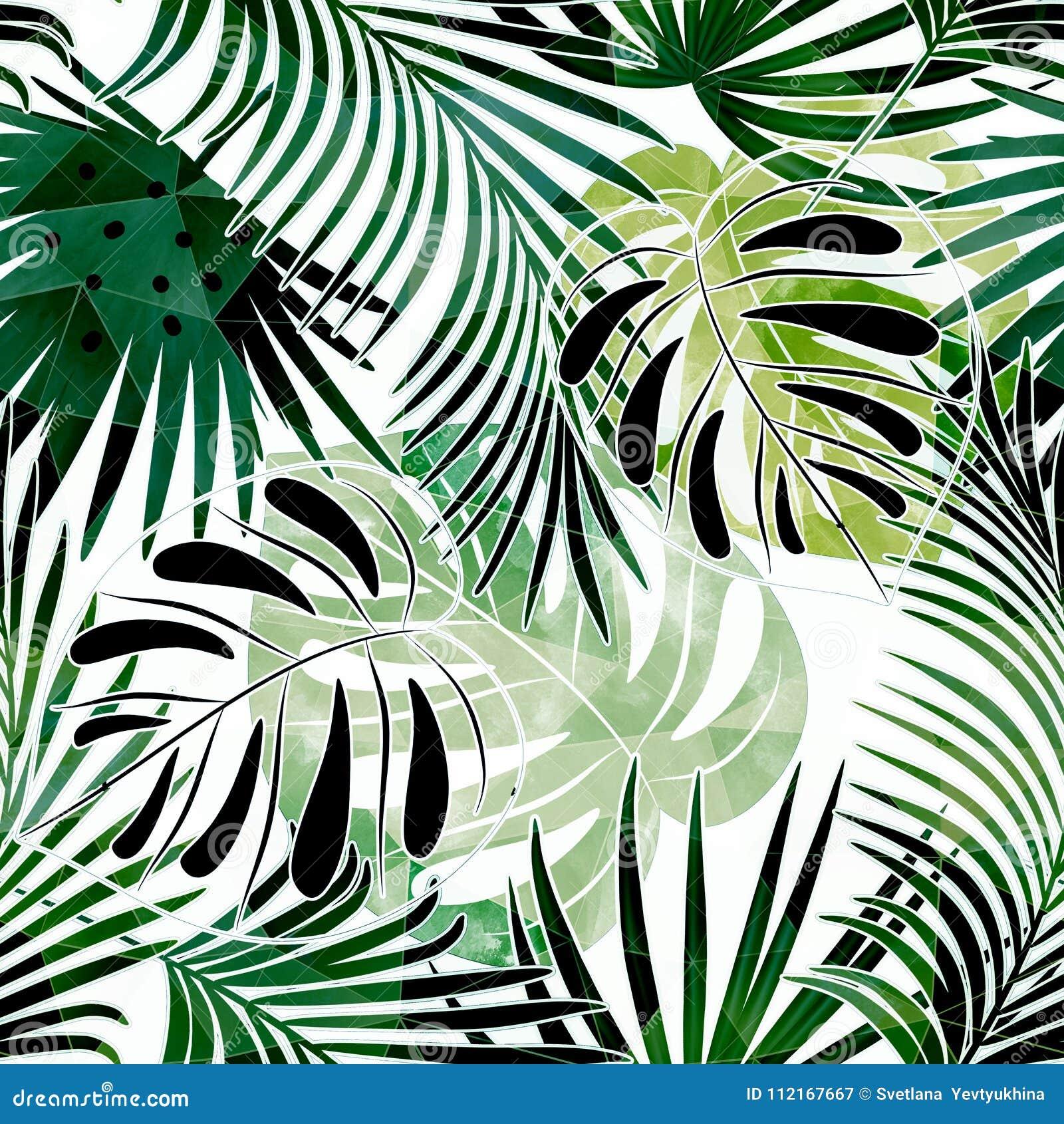Modelo tropical colorido inconsútil con efecto de la acuarela Modelo elegante para las materias textiles