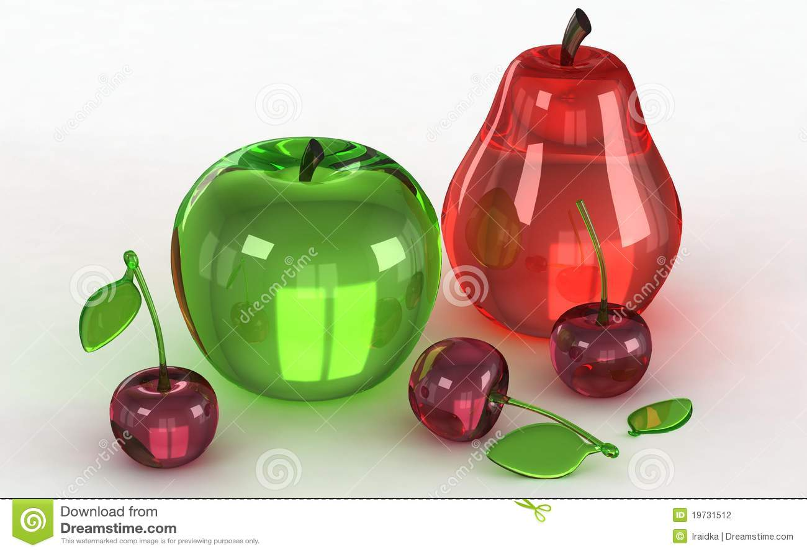 Modelos de cristal de frutas fotograf a de archivo for Frutas de cristal