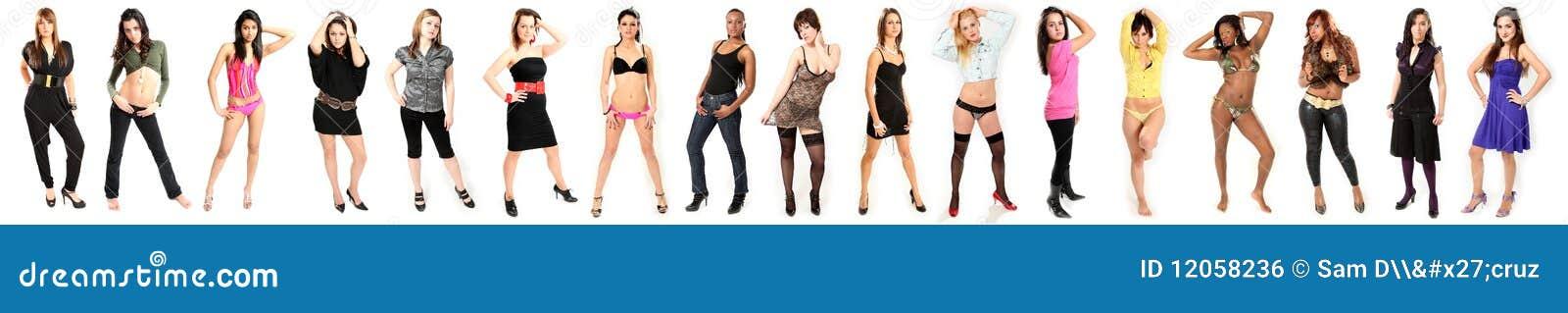 Modelos de forma bonitos das mulheres novas