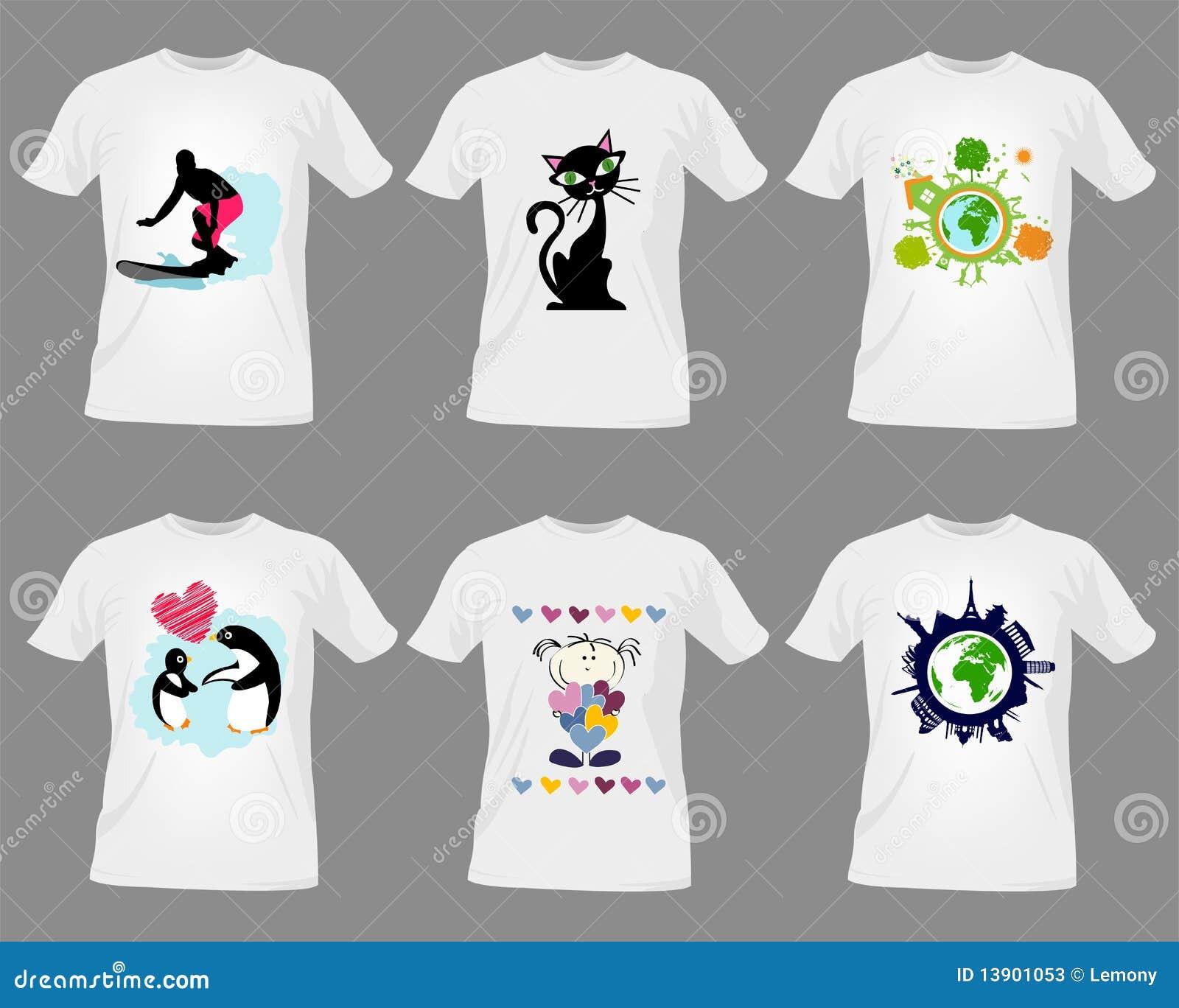Modelos de la camiseta ilustración del vector. Ilustración de verde ...