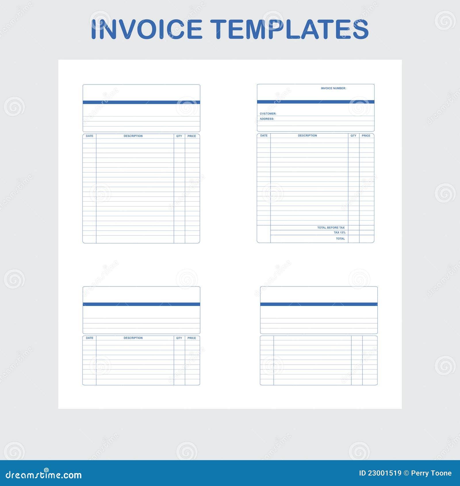 Modelos de la factura ilustración del vector. Ilustración de factura ...