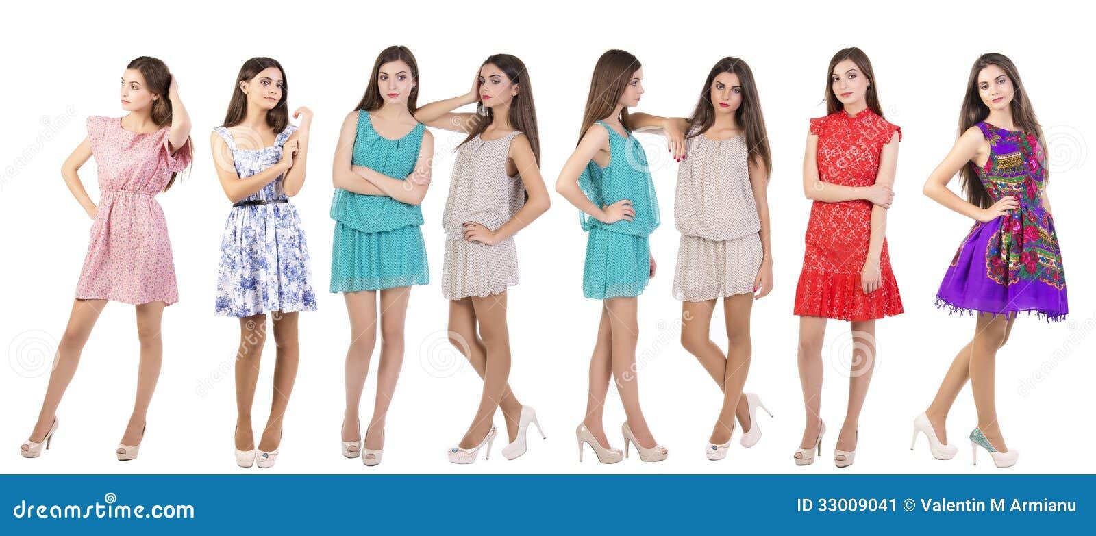 Modelos de moda del collage