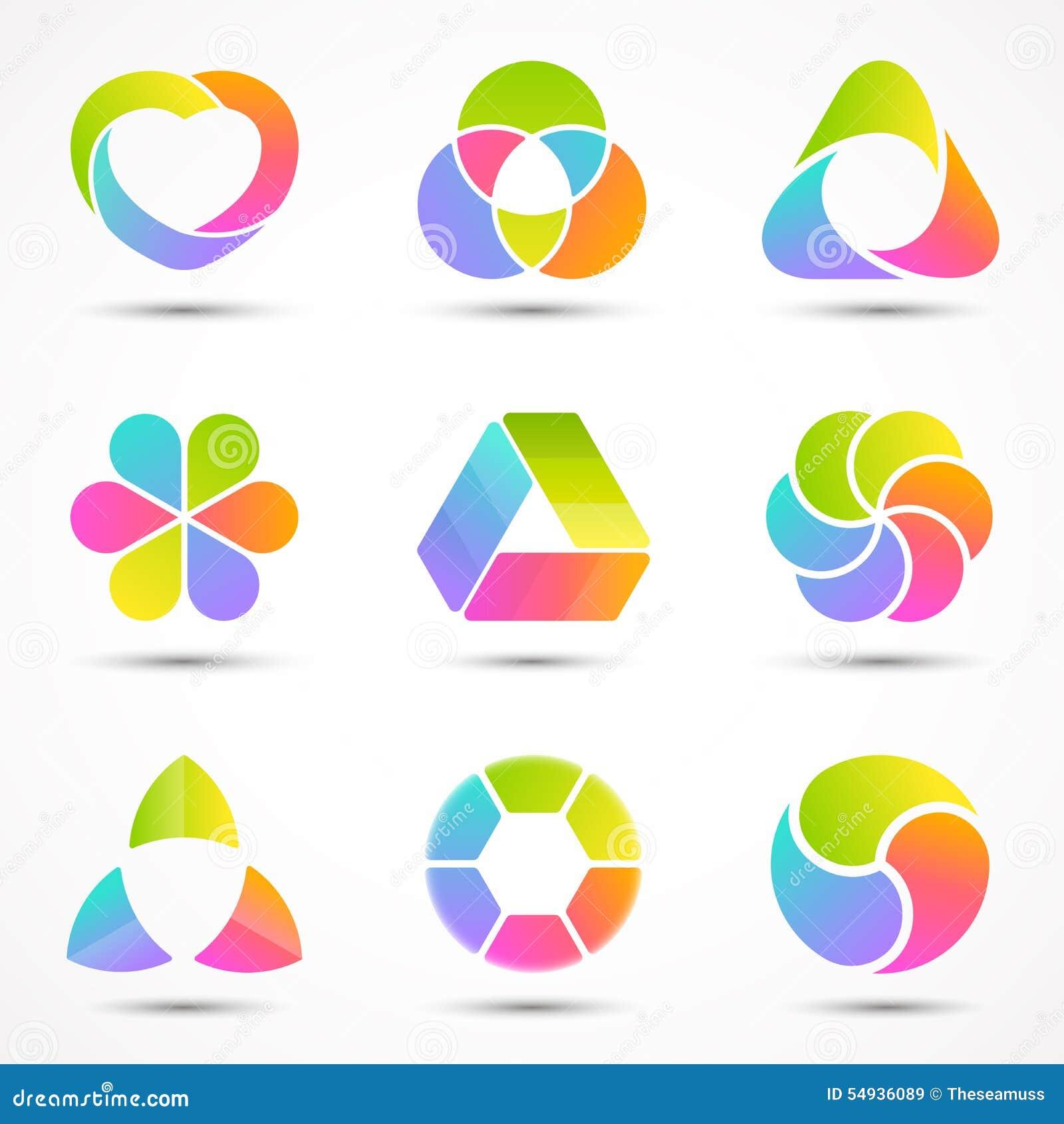 Modelos del logotipo fijados Círculo moderno del extracto del vector