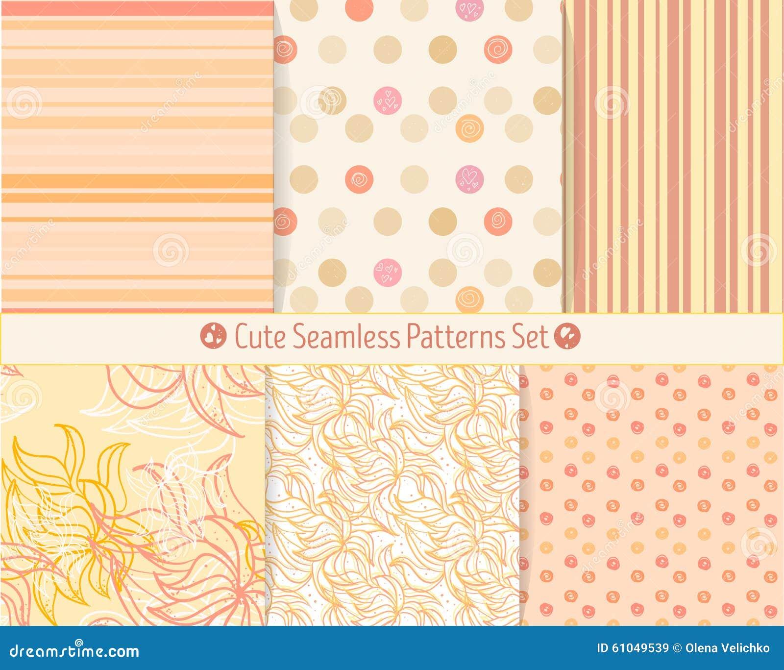 Modelos inconsútiles a mano lindos Textura sin fin para la reservación del papel o del pedazo