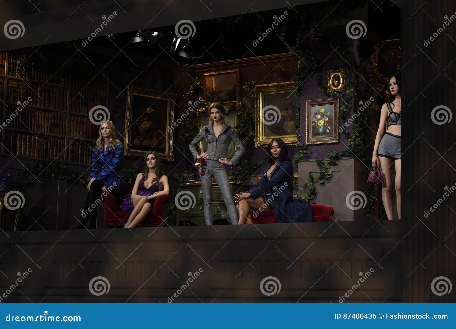 Models Pose At La Perla Fashion Show Editorial Photo - Image