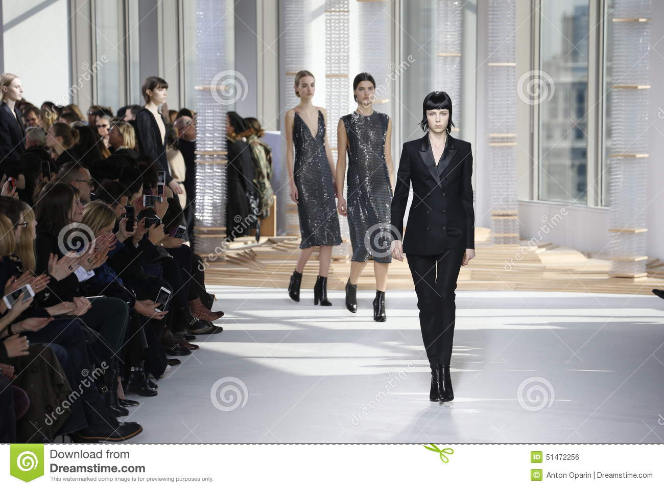 models walk the runway at the boss womens fashion show during mercedes benz fashion week fall. Black Bedroom Furniture Sets. Home Design Ideas