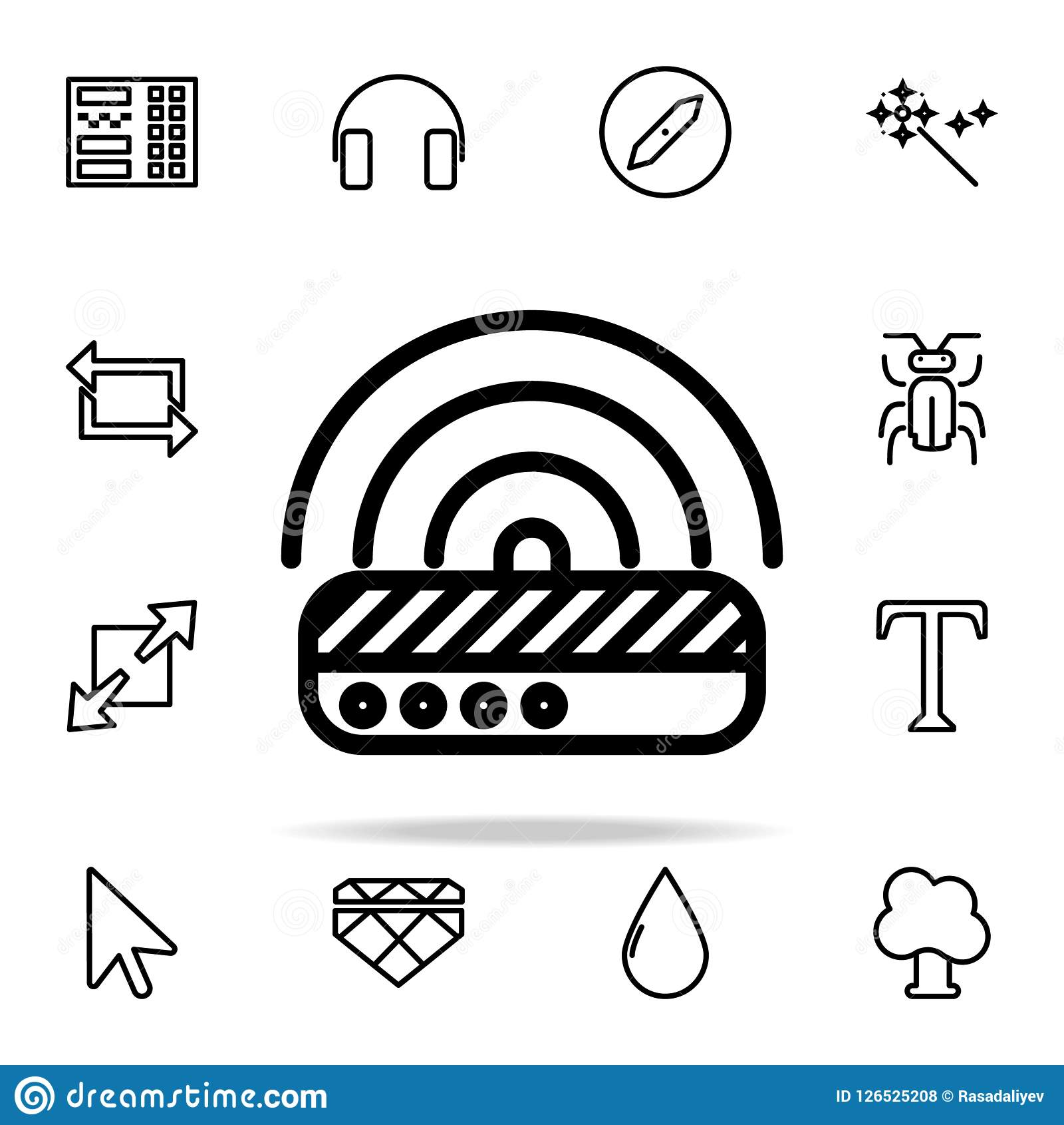 Modem Icon Web Icons Universal Set For Web And Mobile Stock