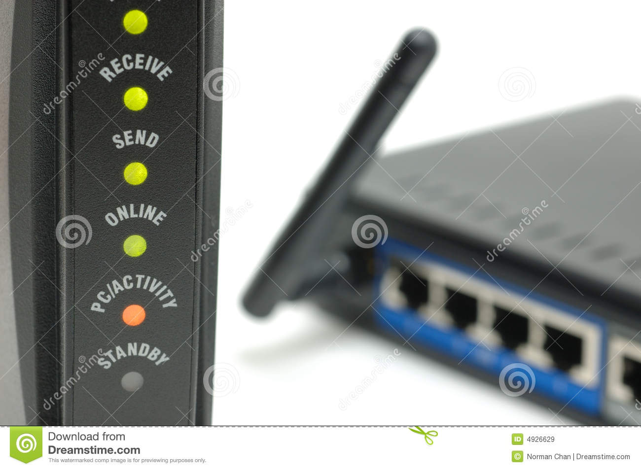 Download Modem lights and router stock image. Image of equipment - 4926629