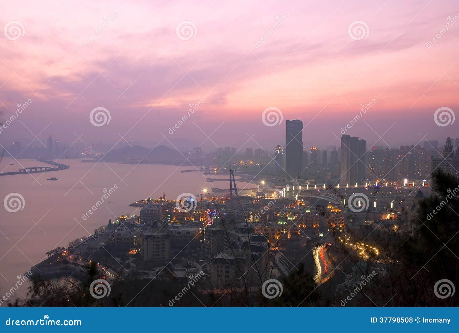 Download Moden city night scenes stock photo. Image of urban, architecture - 37798508