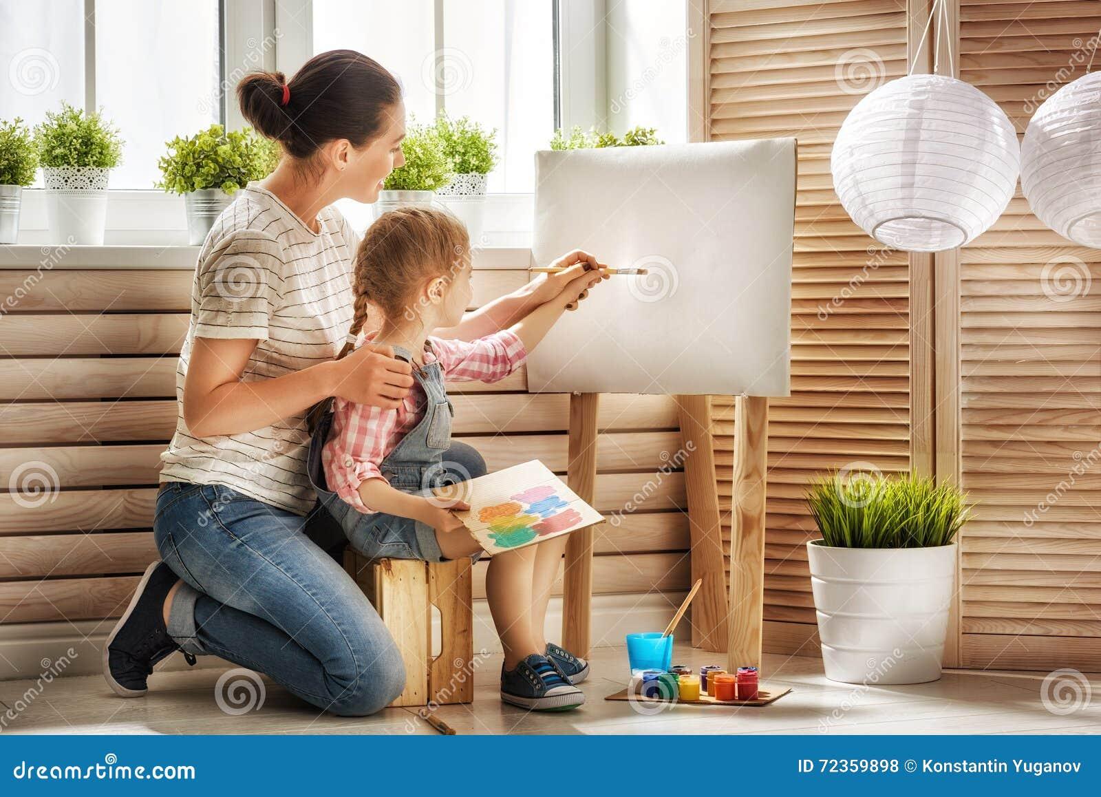 Moder- och dottermålarfärg