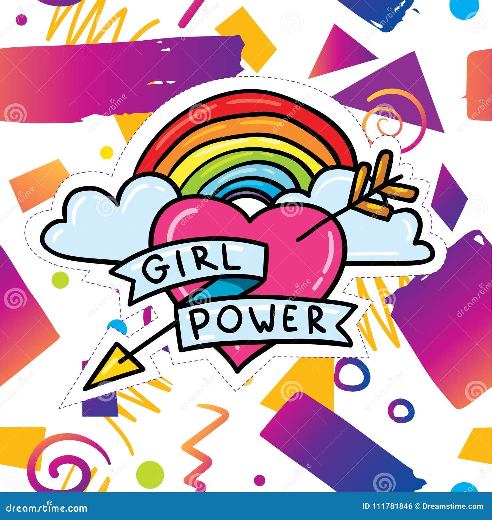 Moderiktig kortdesign med flickamaktklistermärken