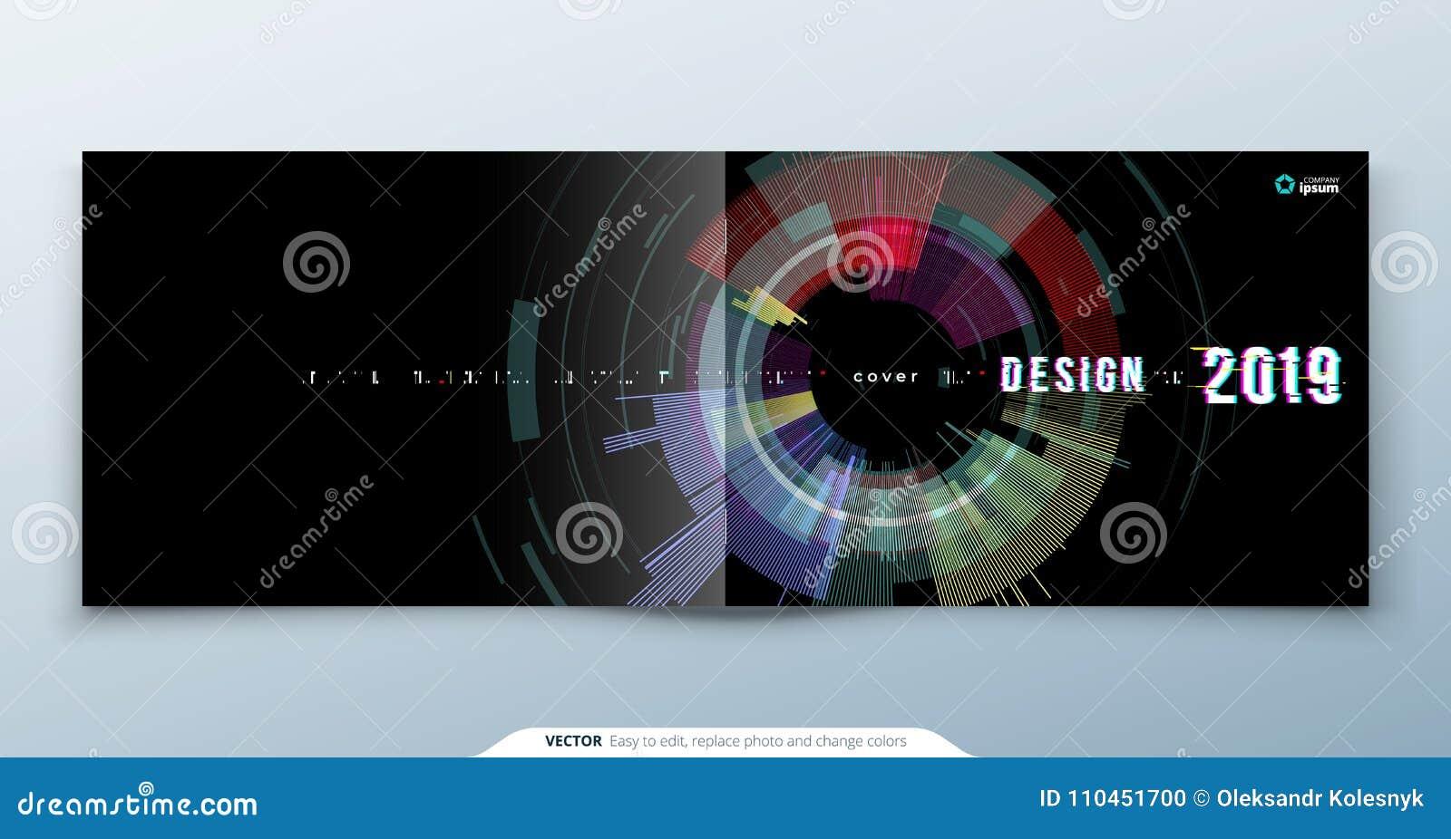 Moderiktig tekniskt felräkningsdesign med den geometriska modellen modern vektor för illustration