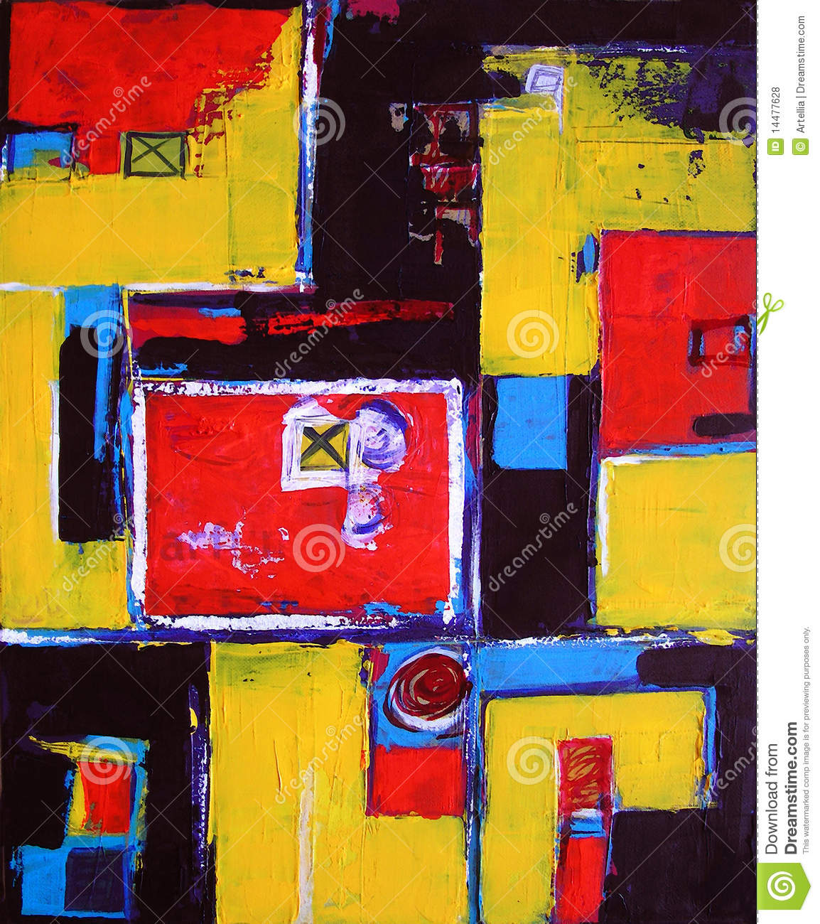 Modern Abstract Art - Painting - Background