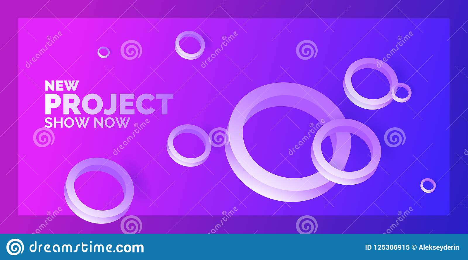 Modern Abstract Background. Template With Circles Of Different Sizes ...