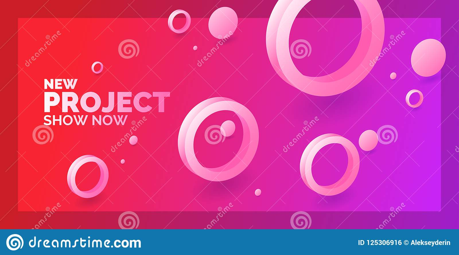 Modern Abstract Background Template With Circles Of Different Sizes