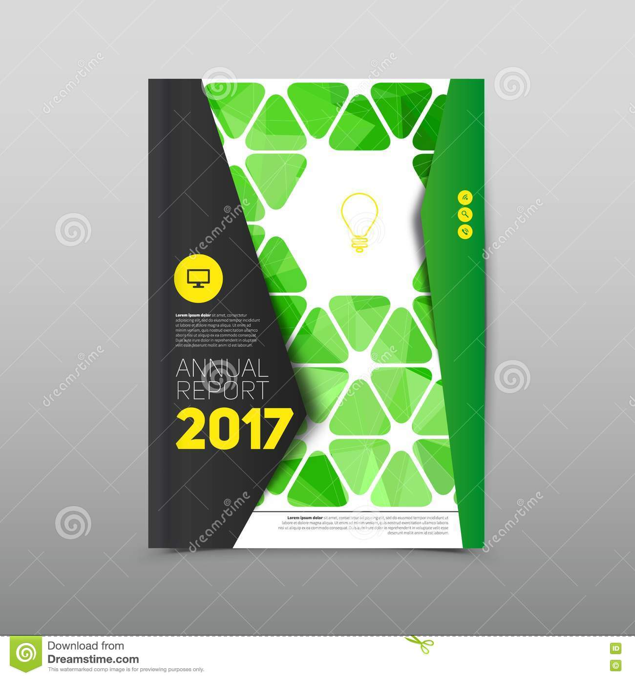 modern abstract brochure flyer design template green book with