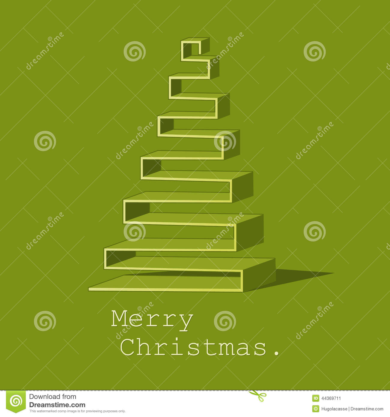 Modern Abstract Christmas Tree Vector Background Stock ...