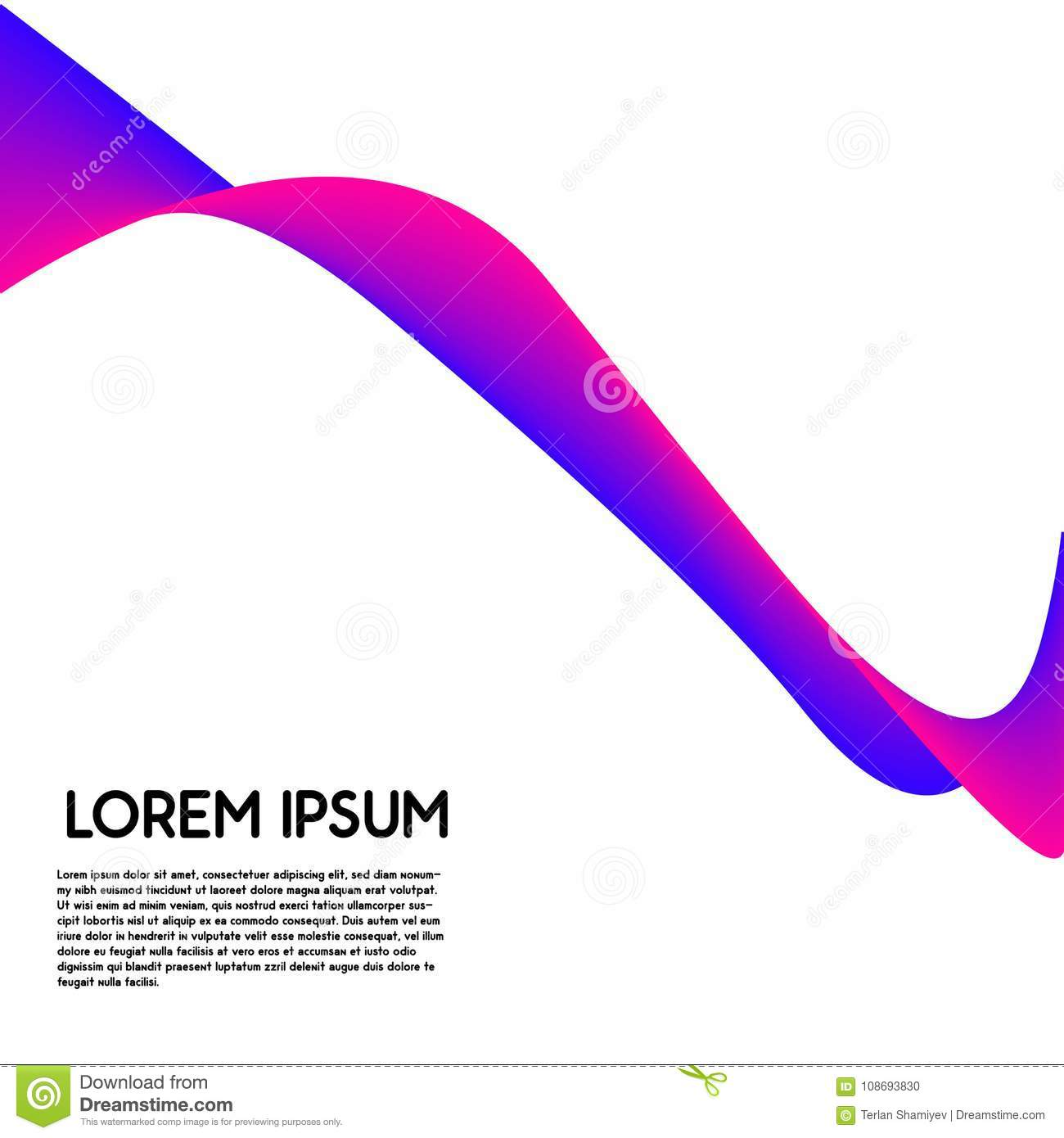 Modern Abstract Cool Gradient Shapes Composition