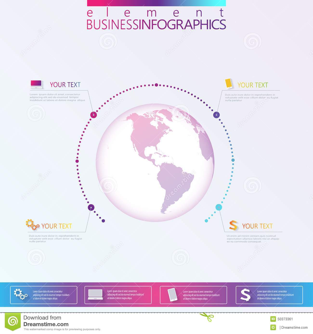 Modern Abstract 3D network template infographic with place for your text. Can be used for workflow layout, diagram, chart, number