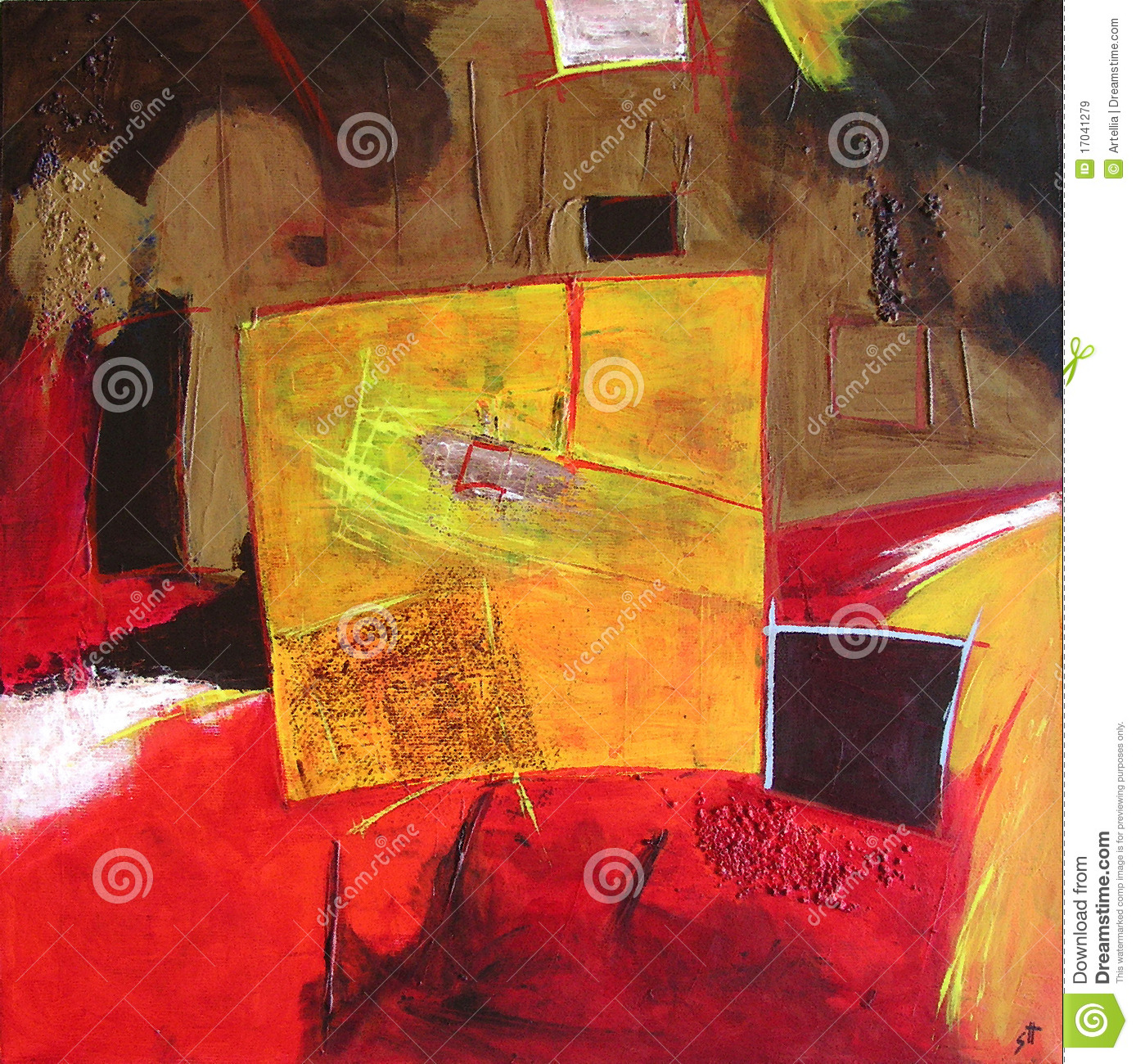 Modern Abstract Painting / Yellow Square