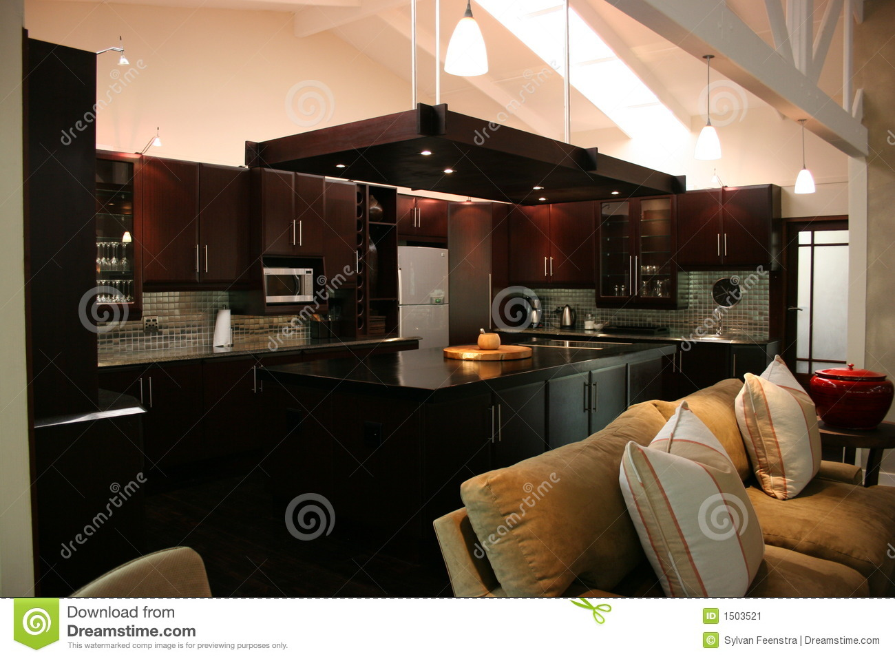 Interior Kitchen Modern African Interior Kitchen Stock Image Image 1503521