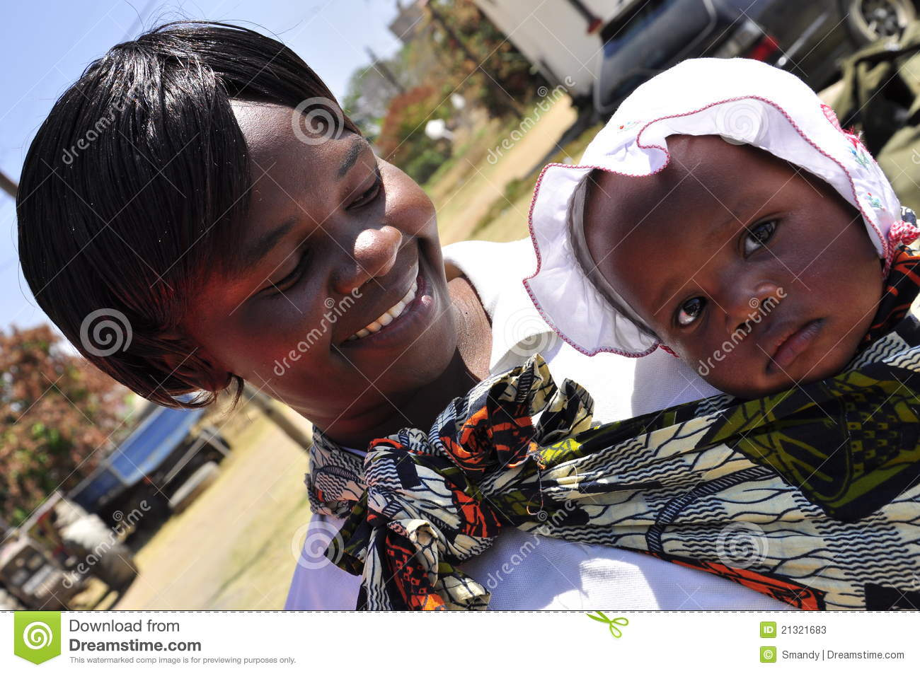 0c97dfce8 Modern African Women With Cute Baby Editorial Stock Photo - Image of ...