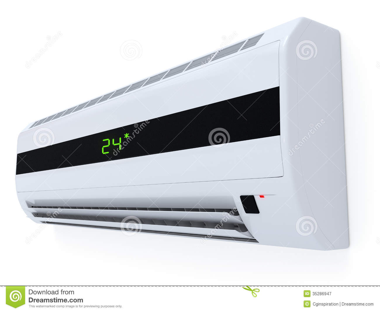 Modern Air Conditioner Royalty Free Stock Photography  : modern air conditioner d clip art 35286947 from www.dreamstime.com size 1300 x 1065 jpeg 73kB